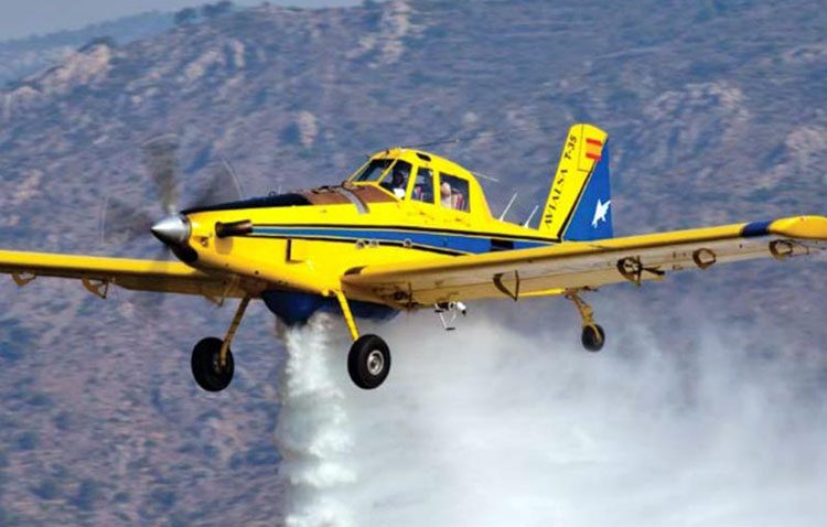 Desaparece en pleno vuelo una avioneta de extinción de incendios de la empresa utrerana Martínez Ridao Aviaciones