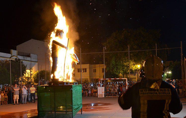 El fuego se hizo presente en la fiesta de Los Juanes