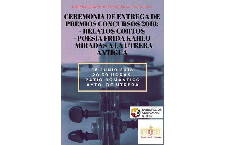 Participación Ciudadana organiza un acto para entregar los premios de los concursos artísticos