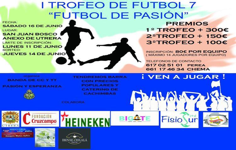 La banda «Pasión y Esperanza» organiza un trofeo de fútbol 7