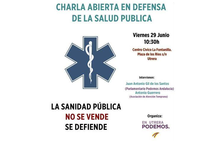 Podemos organiza en Utrera un debate en defensa de la salud pública