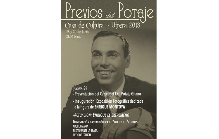 Música y una exposición dedicada a Enrique Montoya en el primer día de los previos del Potaje Gitano
