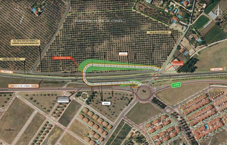 Adif plantea un puente para vehículos y peatones con el que eliminar el paso a nivel de La Espiritista