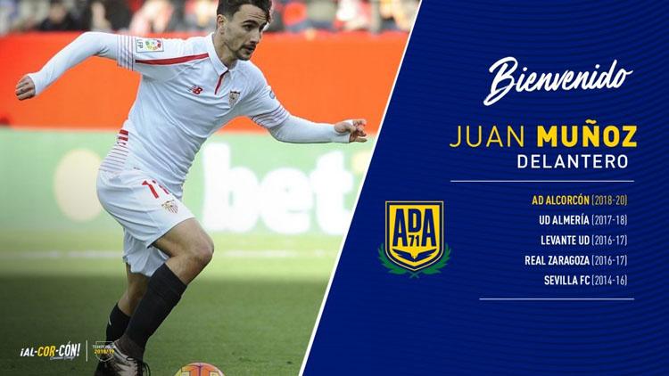 El futbolista utrerano Juan Muñoz ficha por el Alcorcón para las próximas dos temporadas