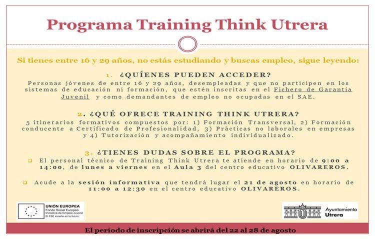 Un nuevo proyecto europeo llegará a Utrera para mejorar la empleabilidad de 75 jóvenes