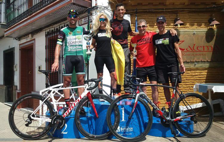 Dos ciclistas del equipo utrerano Teambike se alzan con la copa de Andalucía en el Gran premio de Bollullos