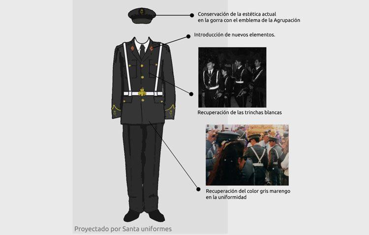La banda «Muchachos de Consolación» prepara el estreno de su nuevo uniforme