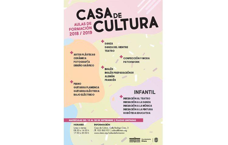 La Casa de la Cultura programa 22 aulas formativas para este curso