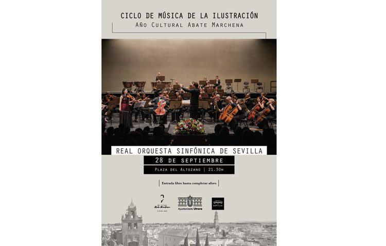 Música de Arriaga y Beethoven en la plaza del Altozano de Utrera con la actuación de la Orquesta Sinfónica de Sevilla