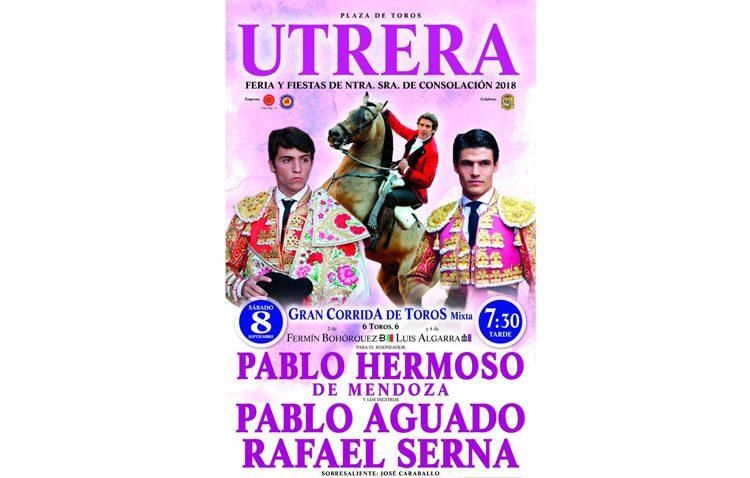 Tarde de toros en Utrera con Pablo Hermosa de Mendoza, Pablo Aguado y Rafael Serna