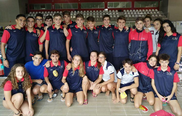 El Club Natación Utrera, tercer clasificado en el I Trofeo Villa de la Rinconada