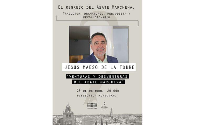 El escritor Jesús Maeso de la Torre visita Utrera para hablar de las «Venturas y desventuras del Abate Marchena»