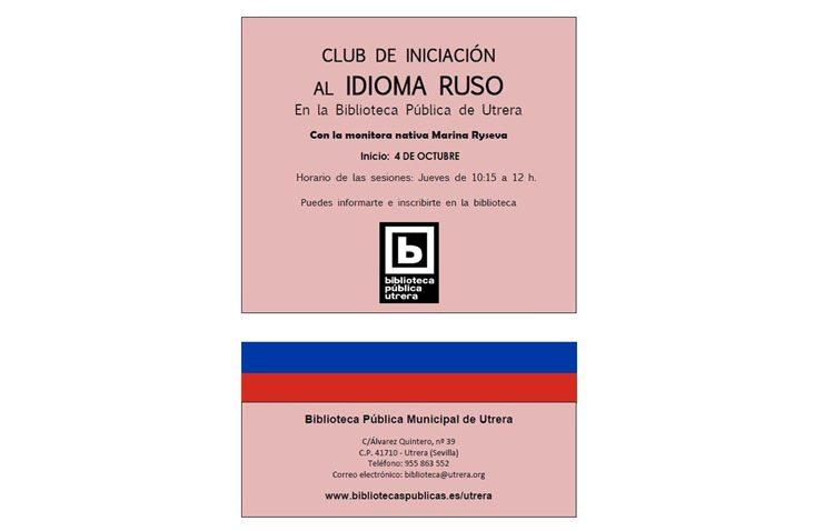 Club de iniciación al idioma ruso en la biblioteca de Utrera