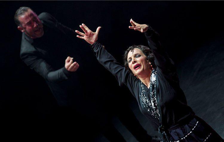 El baile de Eva Yerbabuena inaugura el ciclo de espectáculos con motivo de la Feria de Industrias Culturales del Flamenco