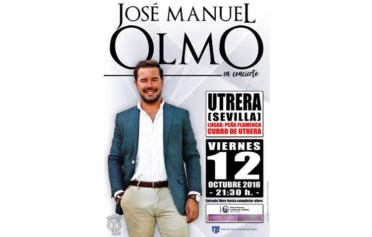 José Manuel Olmo, del programa «Yo soy del sur», en concierto en la peña «Curro de Utrera»