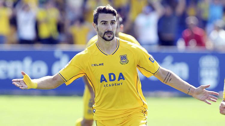 El futbolista utrerano Juan Muñoz, elegido «jugador cinco estrellas» del Alcorcón
