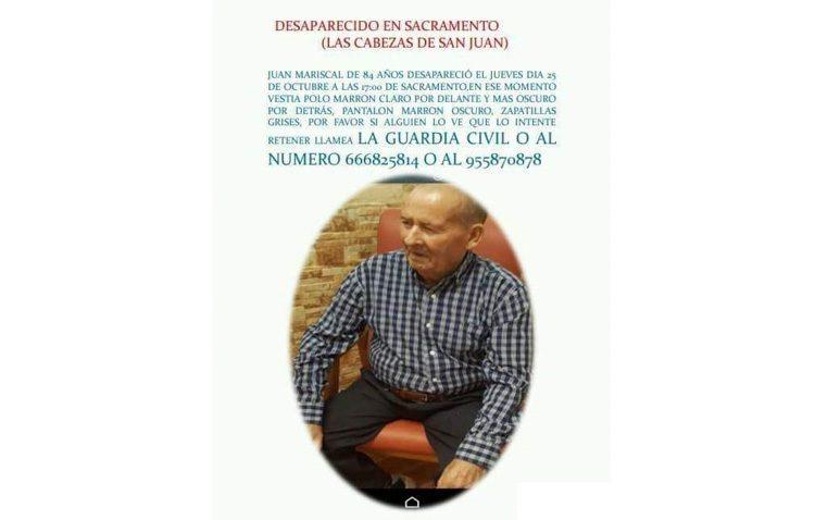 Sin rastro del anciano de El Palmar de Troya desaparecido desde el pasado 25 de octubre