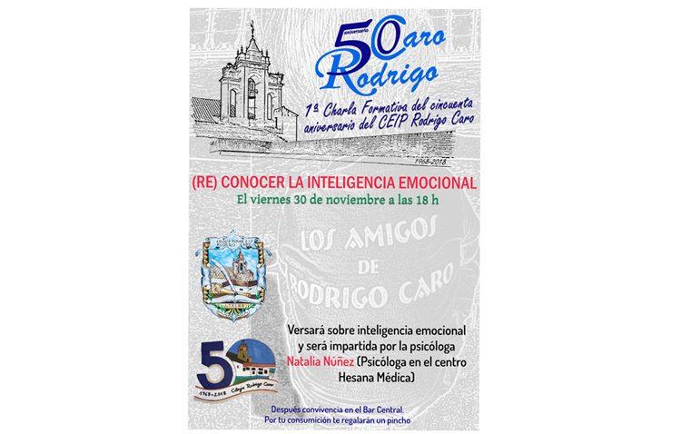 Una charla informativa en el colegio Rodrigo Caro para «(Re) conocer la inteligencia emocional»