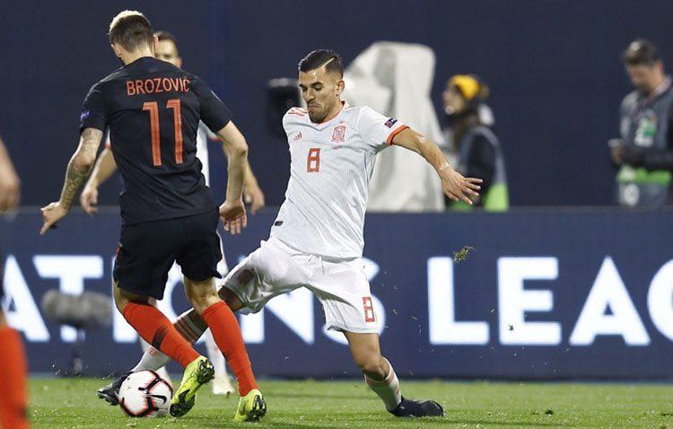 El futbolista utrerano Dani Ceballos se estrena como goleador con la selección española