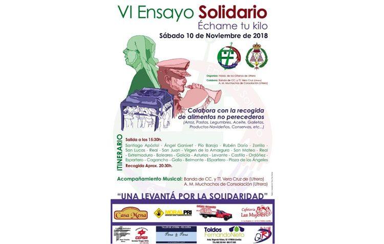El «Ensayo solidario» de la hermandad de los Gitanos volverá a recoger alimentos por las calles de Utrera