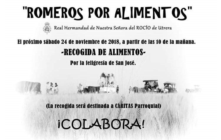 La hermandad del Rocío organiza una recogida de alimentos a beneficio de los más desfavorecidos