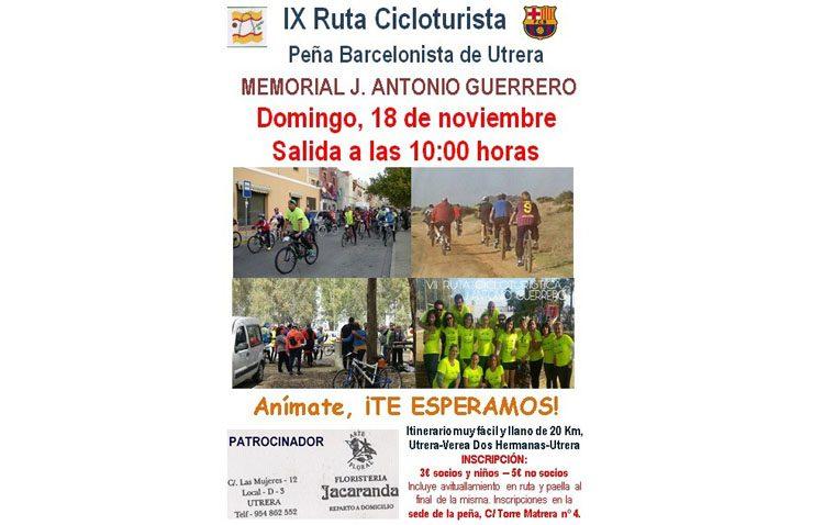 La Peña Barcelonista de Utrera, lista para la IX ruta cicloturista «Memorial J. Antonio Guerrero»