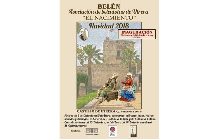 El belén artístico de la asociación de belenistas de Utrera abre sus puertas en el castillo
