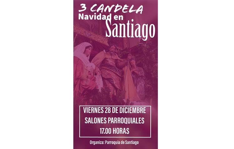 Candela navideña en la parroquia de Santiago