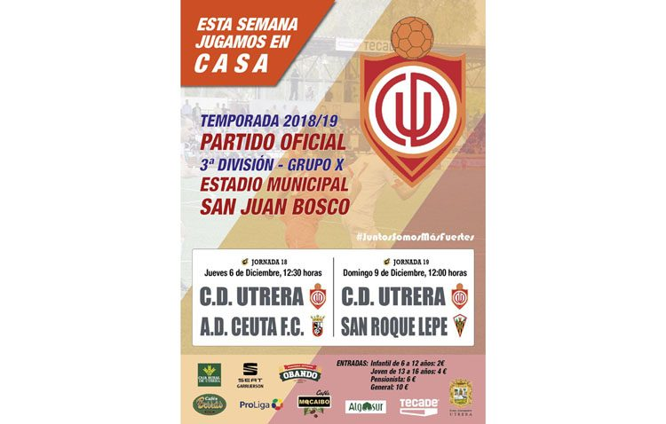 C.D. UTRERA – SAN ROQUE DE LEPE: Tres puntos necesarios para asegurarse la primera plaza