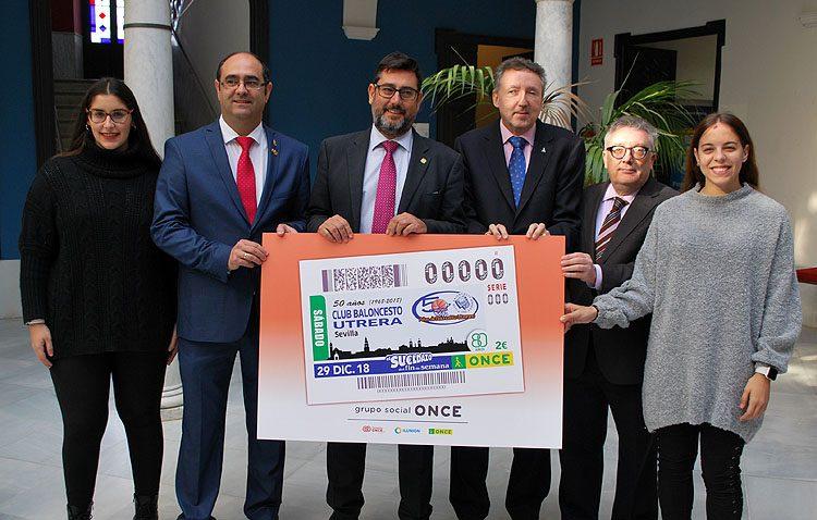 El cupón de la ONCE, el «final soñado» para el cincuentenario del Club Baloncesto Utrera