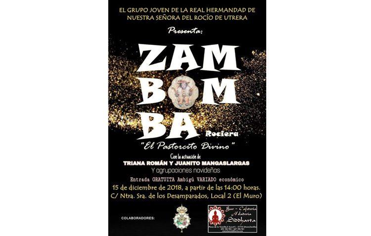 Zambomba navideña del grupo joven de la hermandad del Rocío de Utrera junto a El Muro