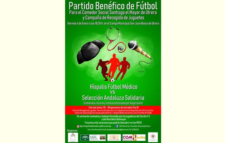 Un partido de fútbol a beneficio del comedor social de Utrera, con toreros, artistas y exfutbolistas como jugadores