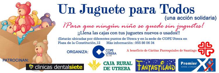 COPE Utrera (98.1 FM) sale a la calle con programas especiales de la campaña solidaria «Un juguete para todos»