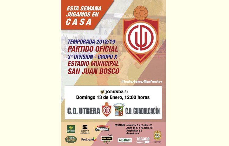 C.D. UTRERA – GUADALCACIN C.D.: El Utrera se mide al colista