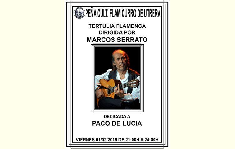 Una tertulia flamenca dedicada a Paco de Lucía en la peña «Curro de Utrera»