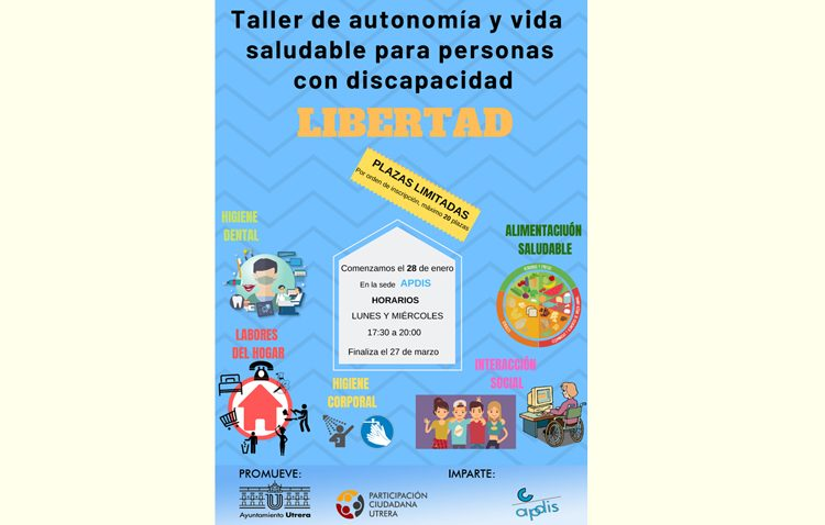 Un taller para promover en Utrera la autonomía y vida saludable para las personas con discapacidad