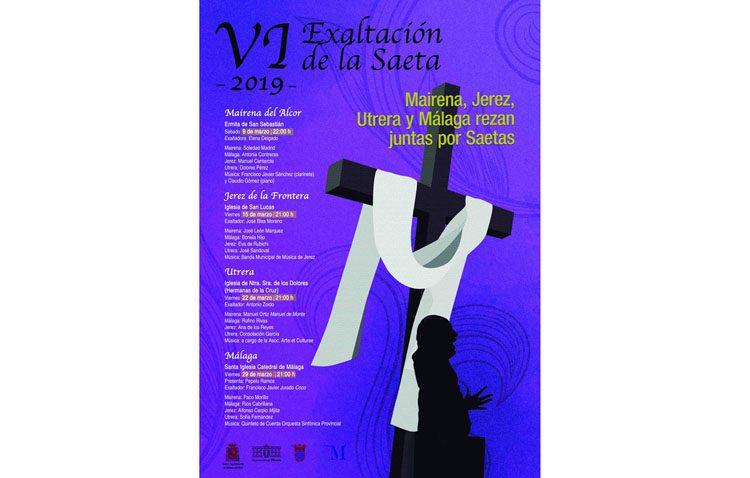 Exaltación de la saeta en la iglesia de las Hermanas de la Cruz