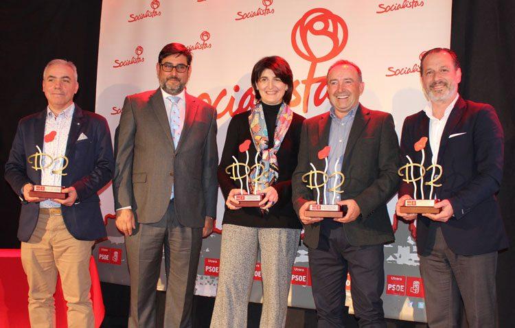 Flamenco, deporte, ciencia y compromiso social, pilares de los premios «Destacados» entregados por el PSOE de Utrera