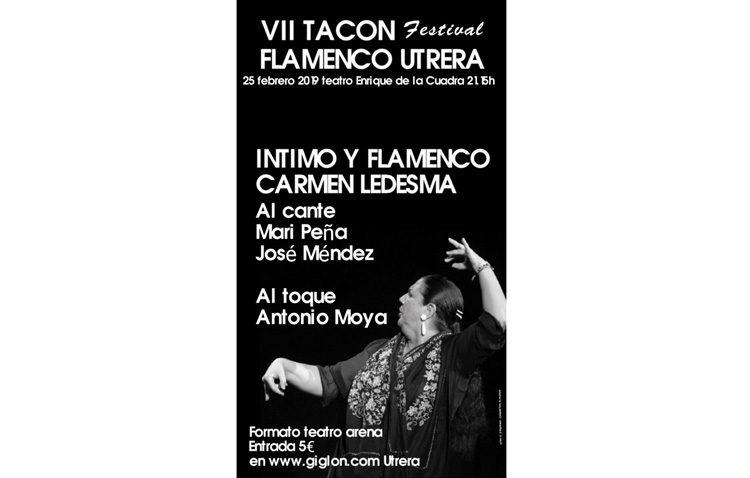 Carmen Ledesma, protagonista este lunes en el «Tacón Flamenco»