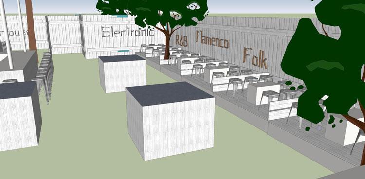 El Ayuntamiento y cuatro empresarios impulsan una nueva terraza de verano en la entrada de Utrera