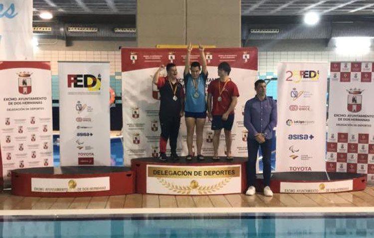 Triunfo de la natación adaptada utrerana en el Campeonato de España