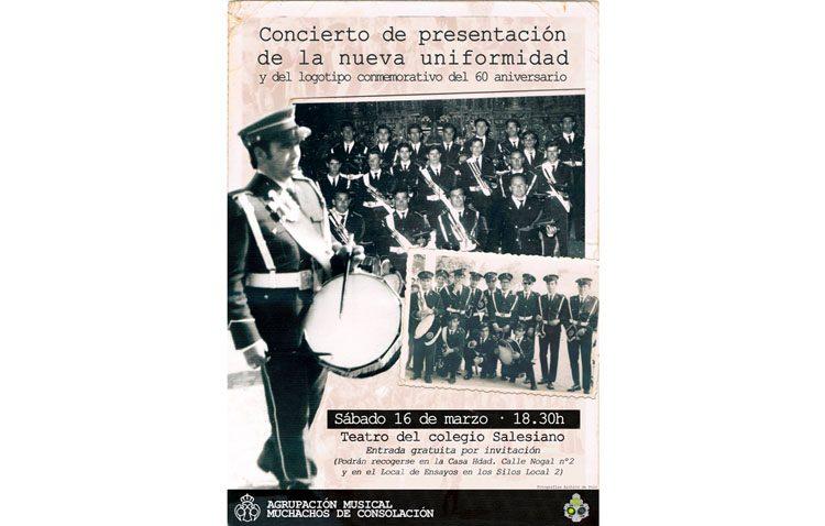 Un concierto de la banda de los Muchachos de Consolación para presentar su nuevo uniforme