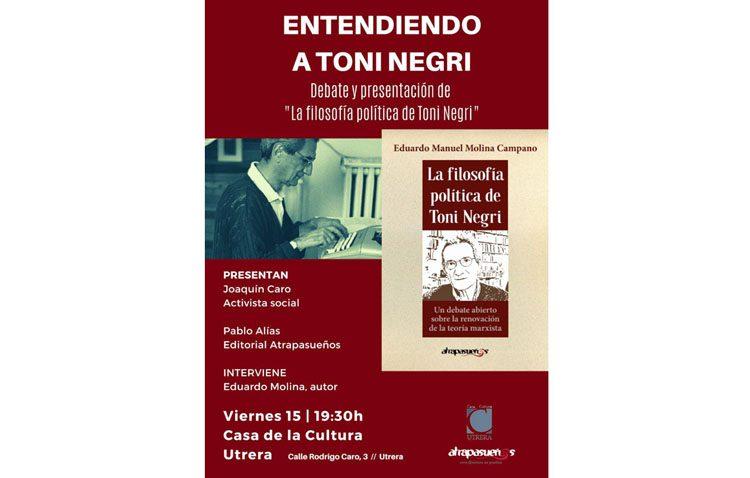 Presentación de un libro sobre «La filosofía política de Toni Negri»