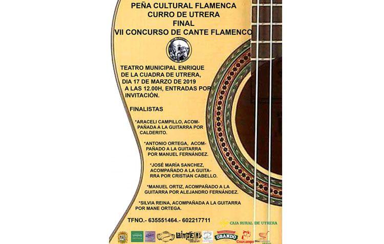 Cinco concursantes llegan a la final del concurso de cante flamenco de la peña «Curro de Utrera»