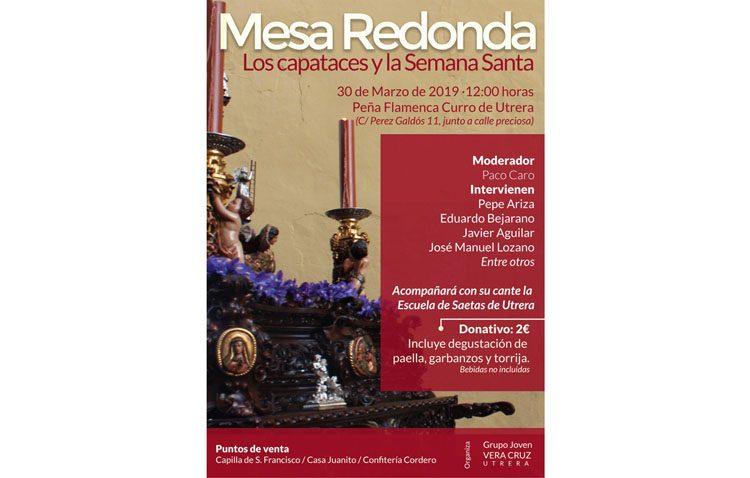 Una mesa redonda organizada por la hermandad de la Vera-Cruz para hablar sobre los capataces y la Semana Santa