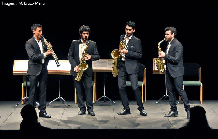 Un brillante concierto del cuarteto de saxofones SQ4, en el que se encuentra el utrerano Manu Brazo,  clausuró  el ciclo de jóvenes intérpretes del Maestranza