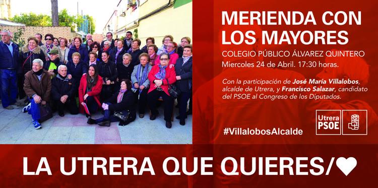 El PSOE organiza un mitin con merienda para los mayores de Utrera
