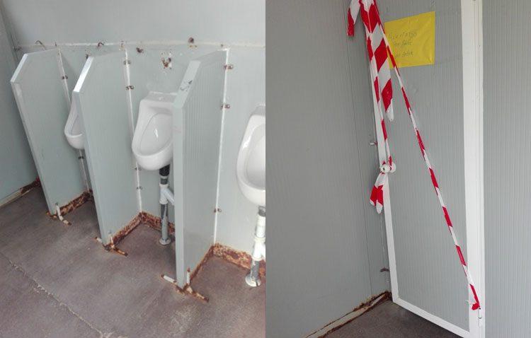 Los WC del V Centenario son una vergüenza