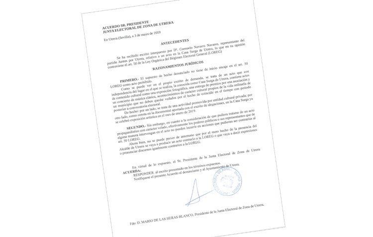 La junta electoral respalda los actos celebrados en la Casa Surga