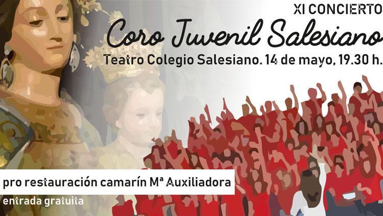 Un concierto del coro juvenil del colegio salesiano de Utrera a beneficio de la restauración del camarín de María Auxiliadora